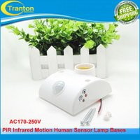 Wholesale AC170V V PIR Infrared Motion Human Sensor Lamp Base