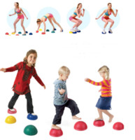 Wholesale Yoga Half Ball Physical Fitness Appliance Exercise balance Ball point massage stepping stones bosu balance pods GYM YoGa Pilates
