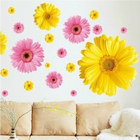 autumn wallpapers - Autumn warm wall stickers stickers Daisy removable wallpaper living room bedroom bedside glass decorative wall stickers