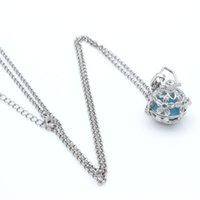 Wholesale Charms Silver Flowers Hollow Cage Box Locket Fragrance Essential Oil Aromatherapy Diffuser Necklace Womens Fashion Jewelry