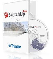 Wholesale 2013 SketchUp Pro English Language version Plastic color box package brand new full version
