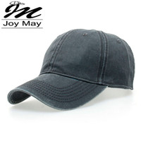 baseball cap washing - High quality Washed Cotton Adjustable Solid color Baseball Cap Unisex couple cap Fashion Leisure Casual HAT Snapback cap B126