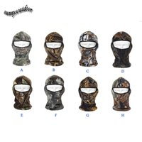 Wholesale Face Protection Airsoft Paintball Shooting Gear Full Face Polar Fleece Tactical Hunting Mask Hunting Bionic Camouflage Hood