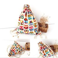 Wholesale 2016 hot women s fashion original canvas shoulder bag Drawstring Bag rucksack animal prints