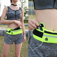 Wholesale Men women outdoor sports Running waistpack mobile phone anti theft close fitting yoga waist bag waterproof breathable purse wallet