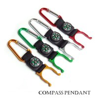 Wholesale Mini Compass With Buckle as Bag Accessory Outdoors Gear Gadgets For Mountaineering And Hiking colors Out073