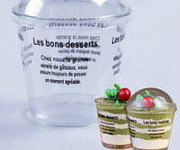 Wholesale 1000 Plastic Round Dome Lid Spoon Tiramisu Muffin Cake Cups Clear Home DIY Dessert Baking Tools