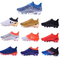 Wholesale Originals Messi ACE X Purechaos FG AG Slip On Men s Soccer Shoes Boots Men shoes Original Performance Ace Cleats Football Sneakers