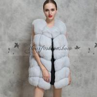 Wholesale New Winter Warm Fashion Women Coat Jacket Faux Fur Vest waistcoat Hairy Shaggy Coat Long Vest outerwear Plus Size Z456