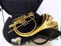 Wholesale Bb Pistons French Horn Lacquer Finish With ABS case Musical instrument by EMS