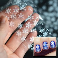 beautiful paper snowflakes - New beautiful white snowflake nail transfer foil sticker paper DIY nail art stickers beauty nail art decor craft tools Christmas