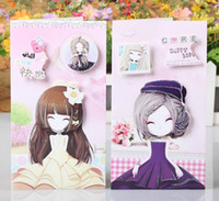 beautiful girl card - Retail beautiful girl cartoon D greenting cards stereo greeting card message card birthday card