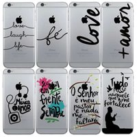 apple font - 2016 Creative Cell Phone Case English Font PC Protective Back Cover Case for Iphone7 Iphone7 Plus SJK034