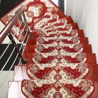 best door mats - New Design Red Stair Mats Entrance Door Mats Best Floral Non slip Corridor Rugs Wedding Carpets for Decorations