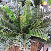artificial coconut trees - Wedding Home Outdoor Sago Office Furniture Decor Artificial Phoenix Coconut Palm Plant Tree Bush Green F5182