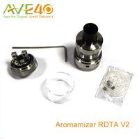Crave à vapeur Aromamizer RDTA V2 réservoir 6ml RDA Style de construire le pont Quatre grands trous pour Airflow réglable vs Cuboid Mini réservoir