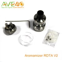 Vapor Crave Aromamizer RDTA V2 tanque 6 ml RDA estilo de composición baraja de cuatro agujeros grandes para regulación de caudal se Cuboide vs Mini Tank