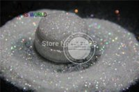 Wholesale NO mm Iridescent white with colorful light Color Glitter Powder for nail tatto art decoration DIY powder pack g
