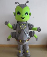 adult alien costume - 100 positive feedback a grey and green color alien insect mascot costume for adult to wear