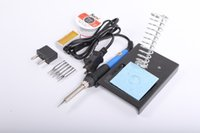 Wholesale New Arrive V V W Adjustable Temperature Electric Iron Soldering Iron Solder Welding Repair Tool Tips Free Gift