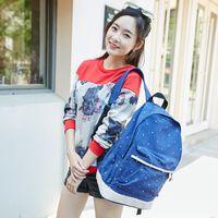 Wholesale Popular Promotion Item School Bag For Boys And Girls YRR052 L Polka Dot Canvas Racksack For Teenagers