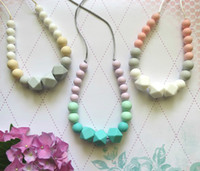 Bohemian baby mum - Silicone Teething Necklace Mum Beads Silicone Pendant Teething Baby Teether Necklace Safe Silicone Nursing Necklace Chewable Jewelry