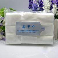 Wholesale 900pcs HOT nail Wipes New Clean Paper Cotton Pads Nail Polish Remover Make up Nail Art Tools