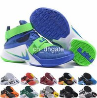 ball king - 2016 Hot Sale Top Quality Lebron Soldier XI Man Basketball Shoes LBJ King MVP Basket Ball Shoes