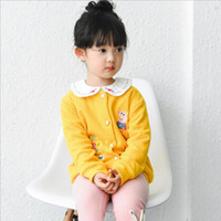 Wholesale Girl cartoon coat colorful embroidery of animals pattern jacket thickening tops can keep warm autumn new