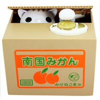 automatic cat box - Super Cute Panda Automatic Piggy Bank Creative Money Box Kids Gifts Cat Mouse Pig Steal Coin Bank Save Box Models