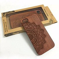 apple wood carving - iPhone Case Handmade Embossed Pattern Carving Wood with Hard Plastic Back Cover for iphone s plus SE S with retailpackage