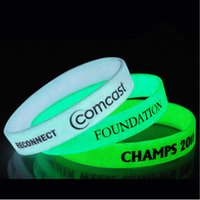 band screen printing - Glow In The Dark Screen Printing Silicone Bracelets Custom Wrist Band With Pantone Number Adult Promotional Sports Bracelet