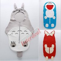 air conditioned vest - Baby Doraemon Sleeping Bag Kids Summer Sleepsack Cartoon Totoro Swaddle Cotton Swaddling Baby Air Condition Blankets Raccoon Dog Wrap B223
