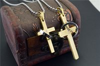 bible good - male couples Cross Necklace bible transshipment Pendant High quality goods Titanium steel pendant fashion gift