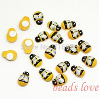 Wholesale ashion Jewelry Beads Wooden bees stickers Sponge stickers Easter decoration Home decoration Kids toys Promotion cheap mm w027