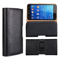 belt clip bag - Holster Horizontal Litchi Plain PU Leather Clip Case For Samsung S7 Edge Iphone plus Buckle PU Belt Skin Pouches Phone Cover Skin bag