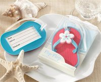 beach gift tags - New arrival Flip flop luggage tag beach style wedding favor bridal shower gifts