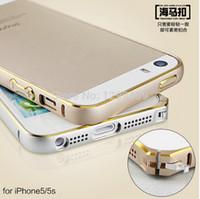 aluminium curve - For iPhone S Ultra Thin Slim Aluminium Metal Hippocampal buckle Bumper Frame Cover Case Curved Design