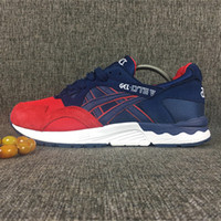 america art - Asics Gel Lyte V5 H52VQ Captain America Outdoor Running Shoes Mens And Womens Lightweight Breathable Athletic Sneakers