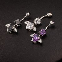 angle steel bars - Little Angle Wings Navel Rings Belly Bars with Body Button Barbells for Sexy Giirls Colors for Choose