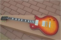 Wholesale Chinese Guitar Newest Cherry Burst Solid Strings Electric Guitar Mahogany