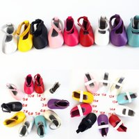 Wholesale Baby ballet shoes girls soft dance shoes baby moccasins moccs leather soft sole infant newborn shoes colors choose
