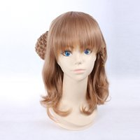 amnesia cosplay - Heroine Medium Long Linen Brown Heat Resistant Synthetic Hair Cosplay Wig CW07A Amnesia Anime Wigs