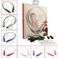 bluetooth headphones - HBS Headphone Stereo Bluetooth Sport Wireless Neckband Headset with Micphone for iPhone Smartphones with Retail Package