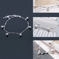 Wholesale Fashion Jewelry Anklets Fashon Women Silver Tone Jingle Bell Anklet Ankles Bracelet Chain