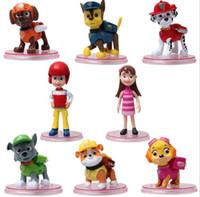 Wholesale 8pcs set Paw Dog PVC Toys Children Kids PVC Dolls Poppy Dog Toy Fireman Sam Patrol PVC Toys