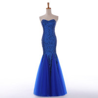 Wholesale Toast the bride long dress color sequins strapless fishtail dress with elegant and sexy cultivate one s morality hosted a party