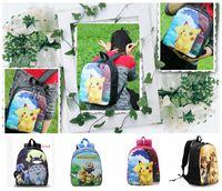Wholesale Poke School Bags Pikachu Sofia Frozen minions zootopia pikachu Cherry Blossom backpack shoulder bag My Neighbor Totoro kids bag KKA601
