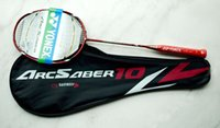 Wholesale New ArcSaber Red Badminton Racket Carbon Fibre Rackets Version High Quality Badminton Racket racquet