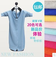 Wholesale Hot Sale Fashion Cardigan Women Sweater Cashmere Knitted Coat O neck Warm Cardigans Colors